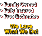 Family Owned, Fully Insured, Free Estimates