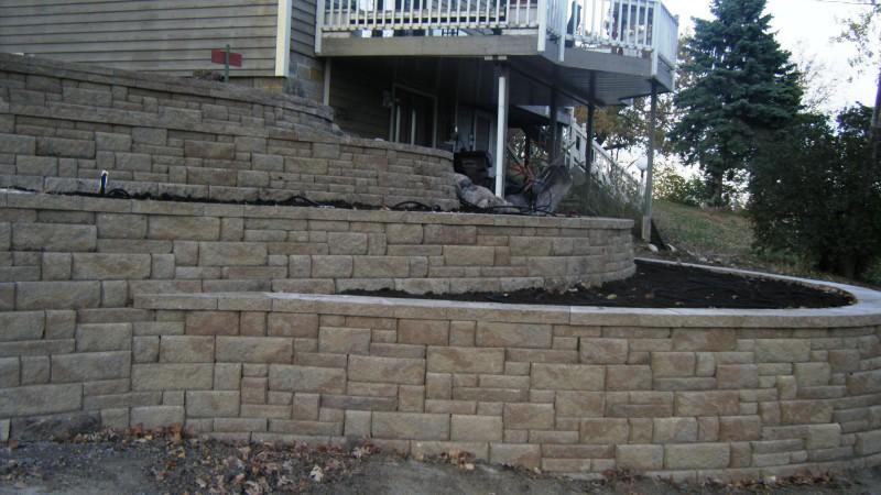 retaining wall segmental block wall montrose