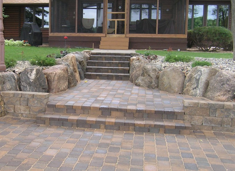 steps landscaping in st michael greenwood monticello minnesota. Black Bedroom Furniture Sets. Home Design Ideas