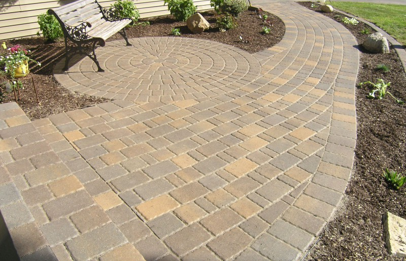 Paver Walkway And Paver Circle Seating Area ...
